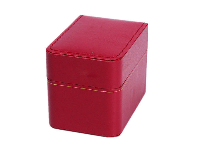 Custom White Velvet Luxury Watch Box , Plastic + Red Paper Womens Watch Box